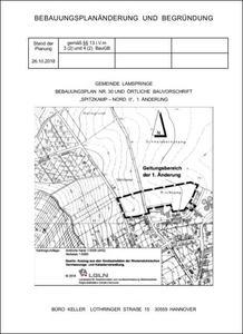 Bebauungsplan Spitzkamp Nord II 1. Änderung; Stand: 26.10.2018
